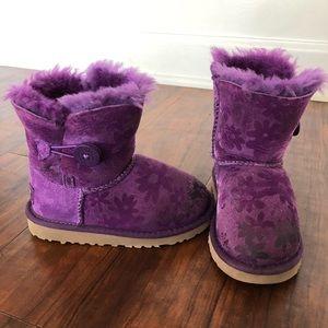Girls Toddler Bailey Button Flower Ugg Boots